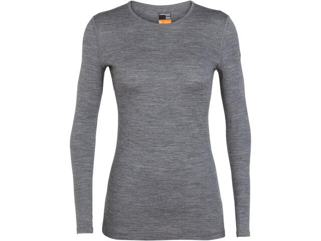 Icebreaker 200 Oasis LS Crew Shirt Damen gritstone heather